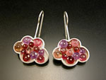 Pink Cloud Earrings by Ashka Dymel (Silver & Stone Earrings)