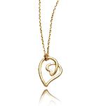 Heart Doodle Pendant by Dana Melnick (Gold Necklace)