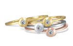 Single Cono Stack Ring by Dana Melnick (Gold & Stone Ring)