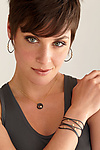 Scribble Black Curl Diamond Solitaire Pendant by Dana Melnick (Gold, Silver & Stone Necklace)