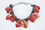 Watermelon Necklace with Lava Berries by Carol Windsor (Silver & Paper Necklace)