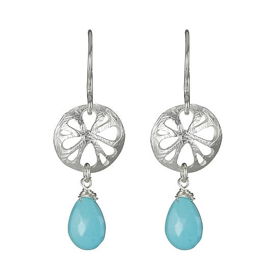 Flora Earrings in Sterling with Turquoise