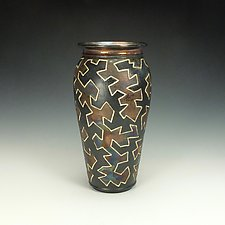 Zig Zag Puzzle Vessel I by Lance Timco (Ceramic Vessel)