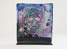 Skull Panel by Mira Woodworth (Art Glass Sculpture)