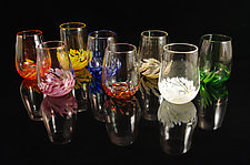 Vino Breve - 8 Piece Set by Corey Silverman (Art Glass Cups)