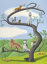 Tree of Dog by Jane Troup (Giclée Print)