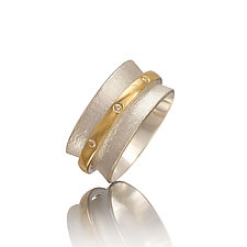 Orbit Ring with Diamonds by Gabriel Ofiesh (Gold, Silver & Stone Ring)