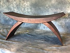 Crescent Bench by Eric Reece (Metal Bench)