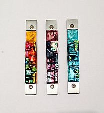 Western Wall Mezuzah by Alicia Kelemen (Art Glass Mezuzah)