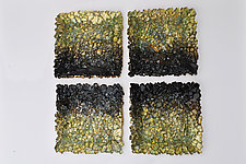 Black Ombre by Mira Woodworth (Art Glass Wall Sculpture)