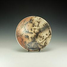 Horse Hair Raku Bowl with Terra Sigilatta by Lance Timco (Ceramic Bowl)
