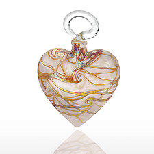 Heart Nouveau by Bryce Dimitruk (Art Glass Ornament)