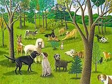 The Dog Park IV: Friends and Family by Jane Troup (Giclee Print)