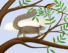 Squirrel and Cloud by Jane Troup (Giclee Print)