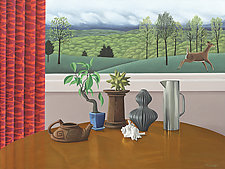 STILL LIFE and LANDSCAPE by Jane Troup (Oil Painting)