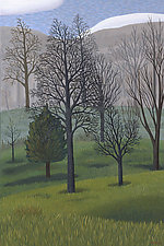 Vertical Trees by Jane Troup (Giclee Print)