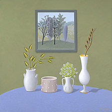 Four Vases by Jane Troup (Giclee Print)