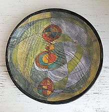 Time and Space Collection, Large Centerpiece Bowl by Janine Sopp (Ceramic Serving Piece)