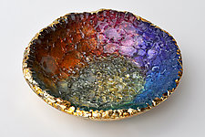 Rainbow Bowl by Mira Woodworth (Art Glass Bowl)