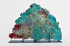 Dreamscape 74 by Mira Woodworth (Art Glass Sculpture)