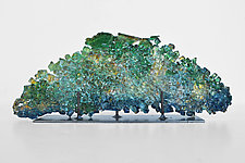 Dreamscape 76: Emerging by Mira Woodworth (Art Glass Sculpture)