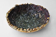 Golden Confetti Bowl by Mira Woodworth (Art Glass Bowl)