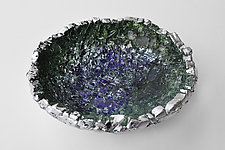 Silver Confetti Bowl by Mira Woodworth (Art Glass Bowl)