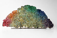 Dreamscape 82: A Rainbow by Mira Woodworth (Art Glass Sculpture)