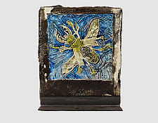 Beetle Bomb by Mira Woodworth (Art Glass Sculpture)