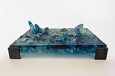 Table Top Crystal Sculpture by Mira Woodworth (Mixed-Media Sculpture)