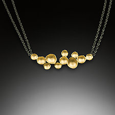 Large Cloud Pendant by Sarah Richardson (Gold & Silver Necklace)