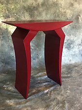 Red Table by Eric Reece (Metal Side Table)