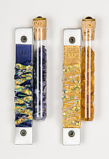 Wedding Jewel Tone Mezuzah by Alicia Kelemen (Art Glass Mezuzah)