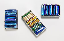Match Box Covers - Icicle Collection by Alicia Kelemen (Art Glass Judaica)