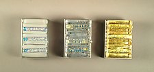 Icicle Matchbox Covers by Alicia Kelemen (Art Glass Match Box Cover)