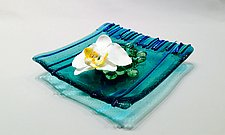 Ikebana Icicle Aqua I by Alicia Kelemen (Art Glass Vase)