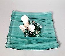 Ikebana Aqua II by Alicia Kelemen (Art Glass Vase)