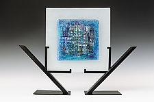 Laguna Azul by Alicia Kelemen (Art Glass Sculpture)