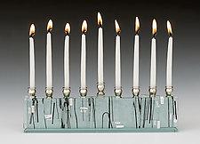 Diamond Jerusalem Skyline by Alicia Kelemen (Art Glass Menorah)