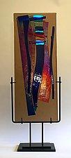 Marina Sunset by Alicia Kelemen (Art Glass Sculpture)