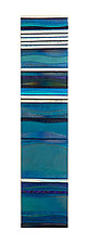 Mosaic Turquoise Sea by Alicia Kelemen (Art Glass Wall Sculpture)