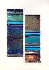 Deep Ocean Mosaic by Alicia Kelemen (Art Glass Wall Sculpture)