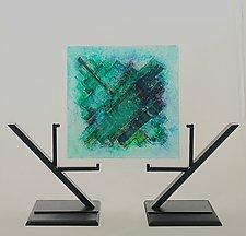 Aqua Stream I by Alicia Kelemen (Art Glass Sculpture)