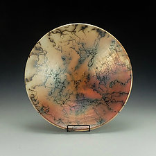 Horsehair Bowl with Terra Sigillata by Lance Timco (Ceramic Bowl)