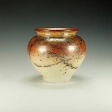 Horse Hair Raku Vessel No. 1 by Lance Timco (Ceramic Vessel)