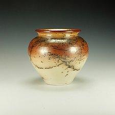 Horsehair Raku Vessel No. 1 by Lance Timco (Ceramic Vessel)