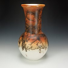 Horsehair Raku Vessel #3 by Lance Timco (Ceramic Vessel)