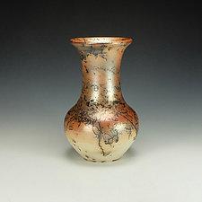 Horsehair Raku Jar by Lance Timco (Ceramic Vase)
