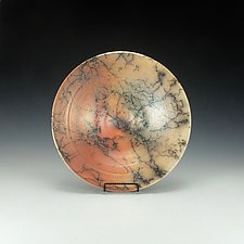 Horsehair Raku Bowl by Lance Timco (Ceramic Bowl)