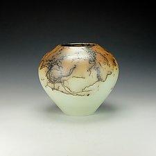 Horsehair Raku Vessel #11 by Lance Timco (Ceramic Vessel)